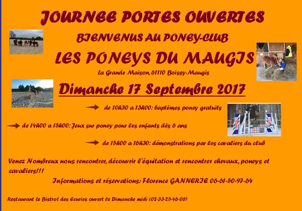 Portes ouvertes poney club Boissy Maugis